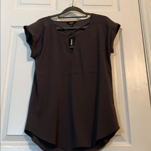 New Express Gray Blouse ~ XS ~ Never Been Worn!